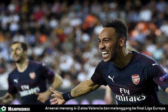 Arsenal menang 4-2 atas Valencia dan melenggang ke final Liga Europa.