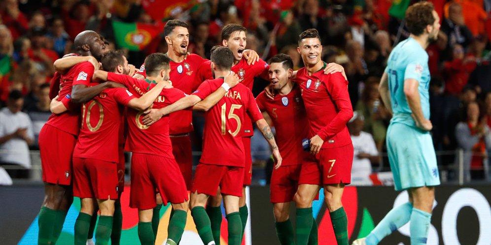 Hasil Pertandingan Kualifikasi Euro 2020 : Portugal vs Belanda Skor 1-0