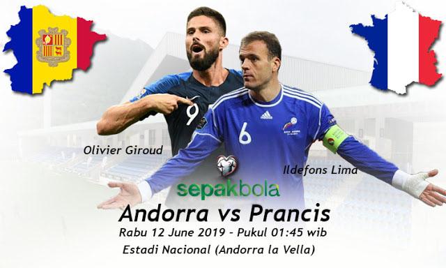 Prediksi Bola Akurat : Andorra vs Prancis 12 Juni 2019
