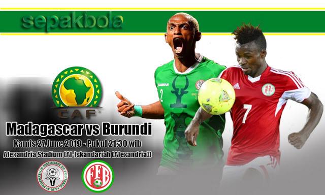 Prediksi Bola Jitu Madagascar vs Burundi 27 Juni 2019 Africa Cup
