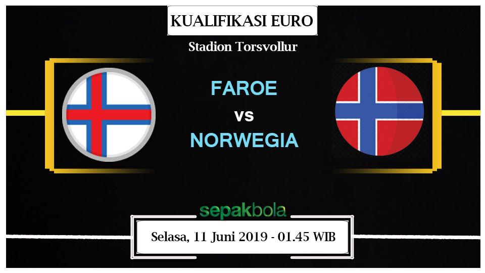 Prediksi Bola Live : Kepulauan Faroe Vs Norwegia 11 Juni 2019