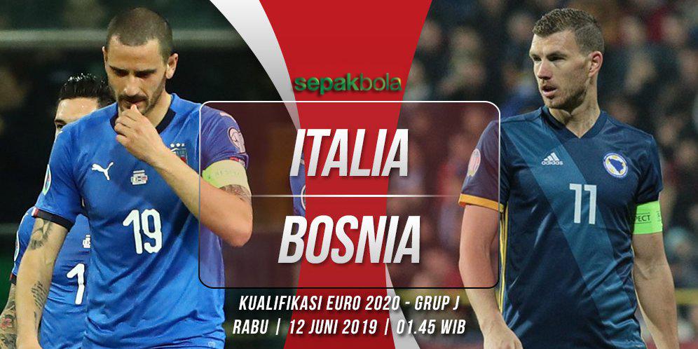 Prediksi Bola Kualifikasi Euro 2020 : Italia Vs Bosnia Herzegovina 12 Juni 2019