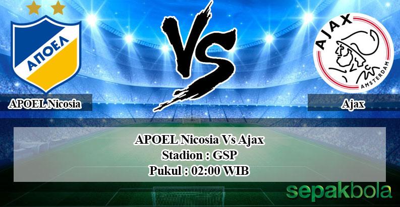 Prediksi Skor Bola APOEL Nicosia vs Ajax 21 Agustus 2019