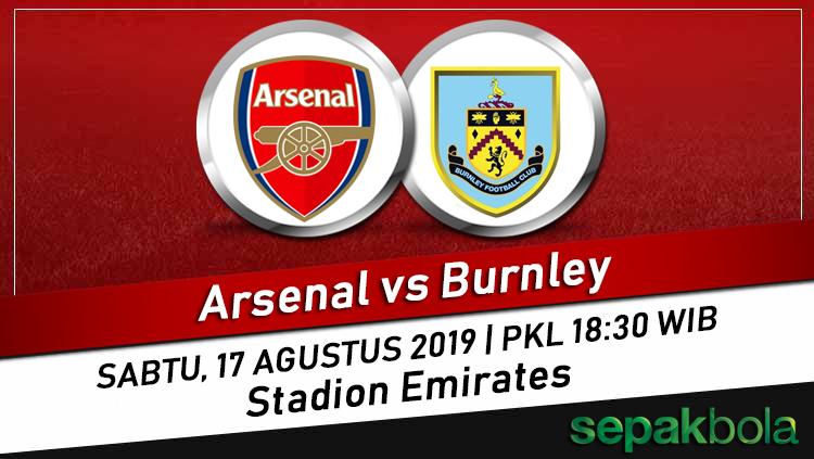 Prediksi Skor Bola Arsenal vs Burnley, 17 Agustus 2019 Liga Inggris
