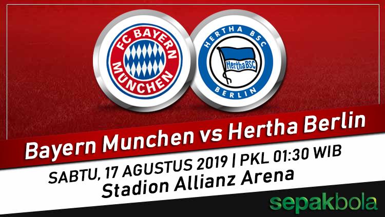 Prediksi Skor Bola Bayern Munchen Vs Hertha Berlin 17 Agustus 2019