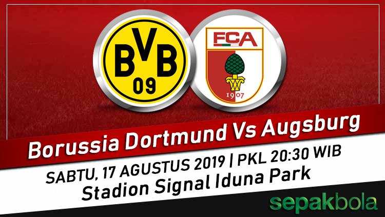Prediksi Skor Bola Borussia Dortmund Vs Augsburg, 17 Agustus 2019