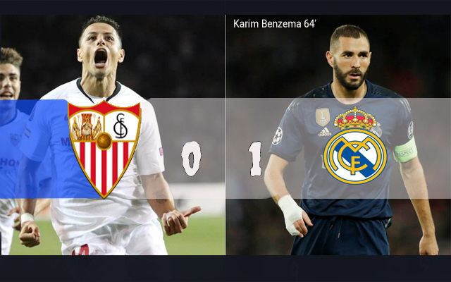 Hasil Pertandingan Sevilla vs Real Madrid: Skor Akhir 0-1