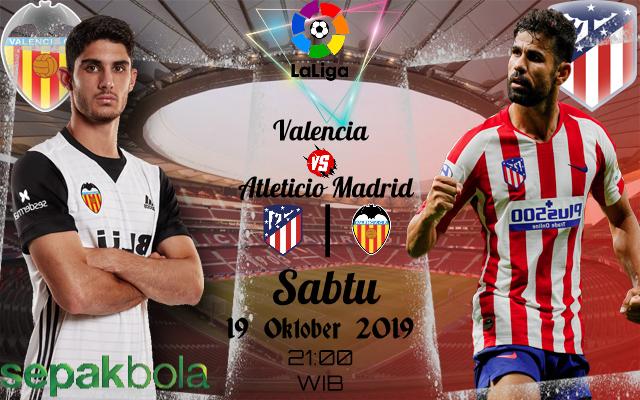 Prediksi Skor Bola Atletico Madrid vs Valencia 19 Oktober 2019