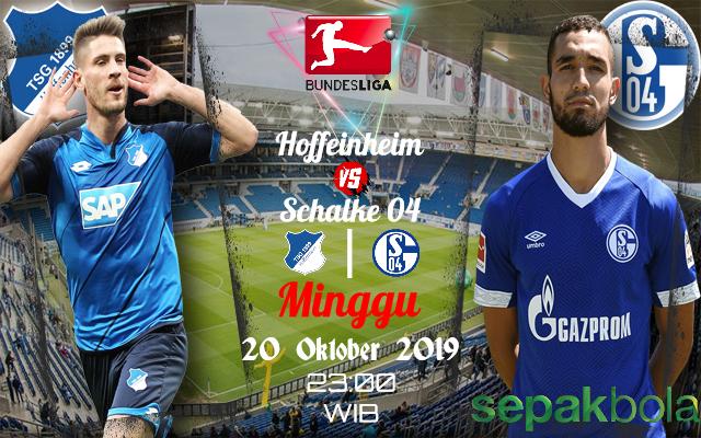 Prediksi Skor Bola Hoffeinheim vs Schalke 04 20 Oktober 2019