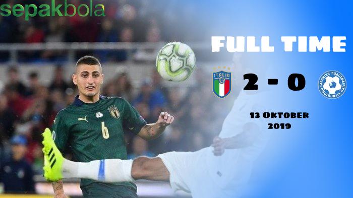 Hasil Pertandingan Italia vs Yunani : Skor Akhir 2 - 0
