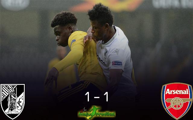 Hasil Pertandingan Vitoria Guimares vs Arsenal : Skor Akhir 1 - 1