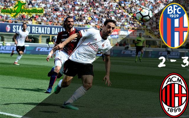 Hasil Bologna vs AC Milan : Skor Akhir 2 - 3