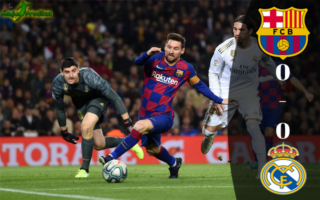 Hasil Pertandingan Barcelona vs Real Madrid : Skor Akhir 0 - 0
