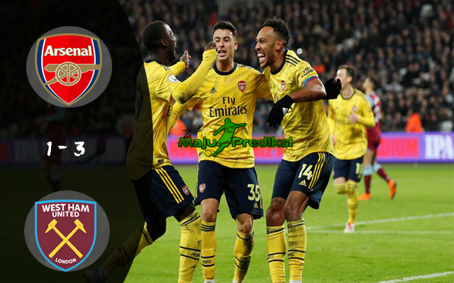 Hasil West Ham vs Arsenal : Skor Akhir 1 - 3