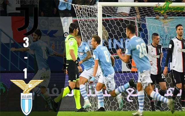 Hasil Pertandingan Juventus vs Lazio : Skor Akhir 1 - 3